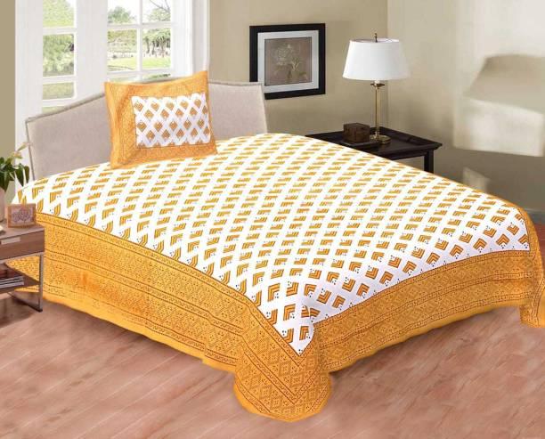 ABHISHEK FASHION 141 TC Cotton Single Printed Bedsheet