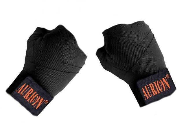 Aurion 3434 Canvas Boxing Hand Wraps, 108-inch Black Boxing Hand Wrap