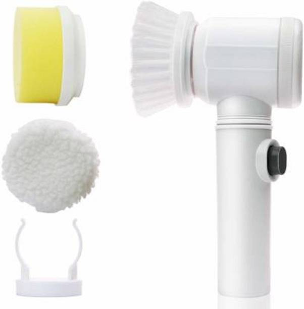 Bharti Enterprise 5 in 1 Power Scrubber Cleaning Brush for Kitchen Bathroom Tub Shower Tile Carpet Bidet Sink Drain Cleaner Plastic Wet and Dry Brush