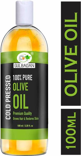 GULBADAN 100% Pure Extra Light Olive Oil for Hair, Skin & Massage Oil Hair Oil