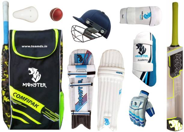 Monster Cricket ( Ideal for 11-14 Years ) Complete kit Cricket Kit