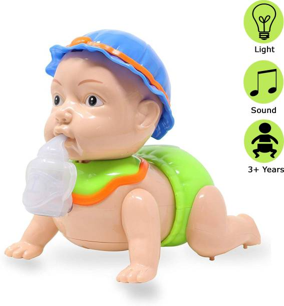 Wishkey Battery Operated Crawling Baby Toy With Light And Music For Kids