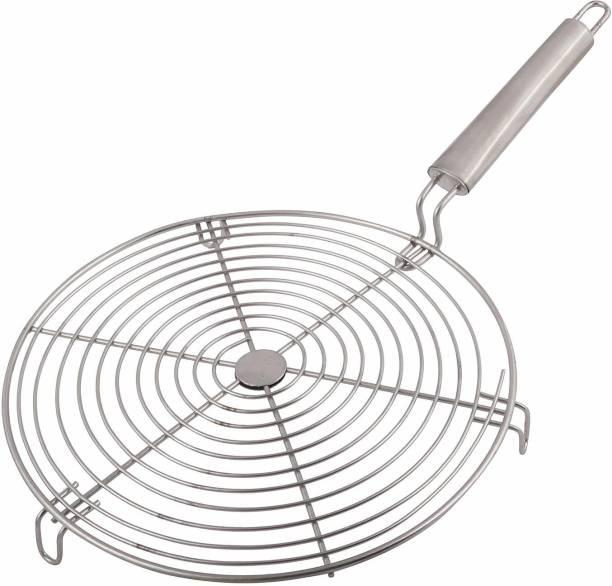 PALOMINO Round Shape Roaster Grill for Gas | Stainless Steel Jali Roti | Roast Grill | Papad Roaster |Paneer Tandoor 1 kg Roaster