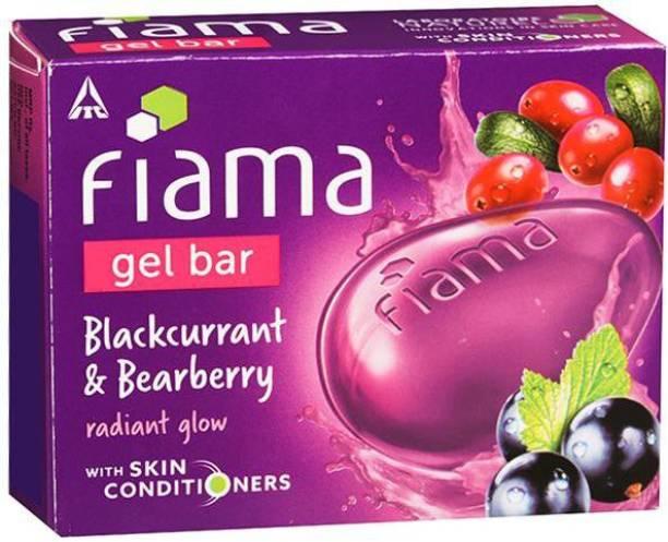 FIAMA blackcurrant & bearberry gel bar 125 gm (pack of 3)