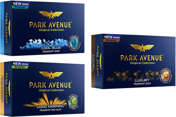 PARK AVENUE 1 COOL BLUE, 1 GOOD MORNING, AND 1 LUXURY Soap