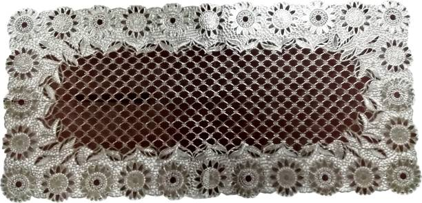 SHIVAYE COLLECTION Brown, Silver 40 cm Table Runner