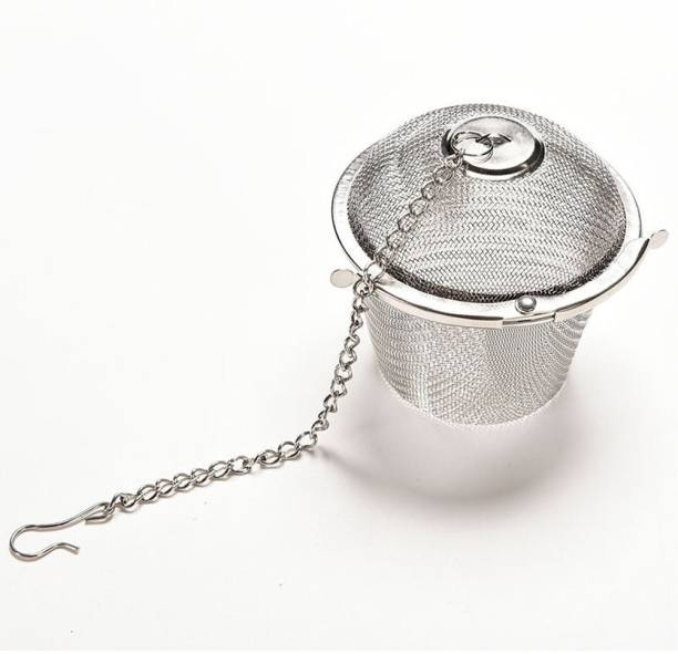 SEASPIRIT Small Tea Infuser, Green Tea Strainer with Extended Chain Hook, Stainless Steel Net Mesh Style for Loose Leaf & Tea Bags, Tea Diffuser Tea Strainer
