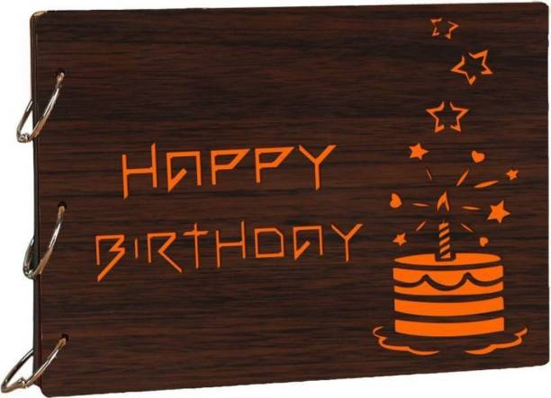 Heritagecrafts Happy Birthday Cake Sparkle Scrapbook Photo Album