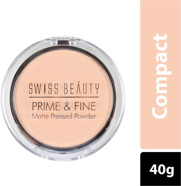 SWISS BEAUTY COMPACT MATTE PRESSED POWDER SB-403 01-ClassicIvory Compact