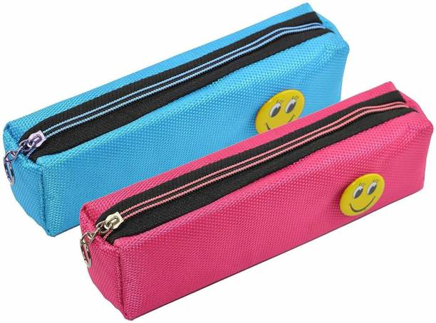ARVANA Atractive smiley pouches for kids Pouches for school stationary item birthday return gits for kids Art Polyester Pencil Boxes