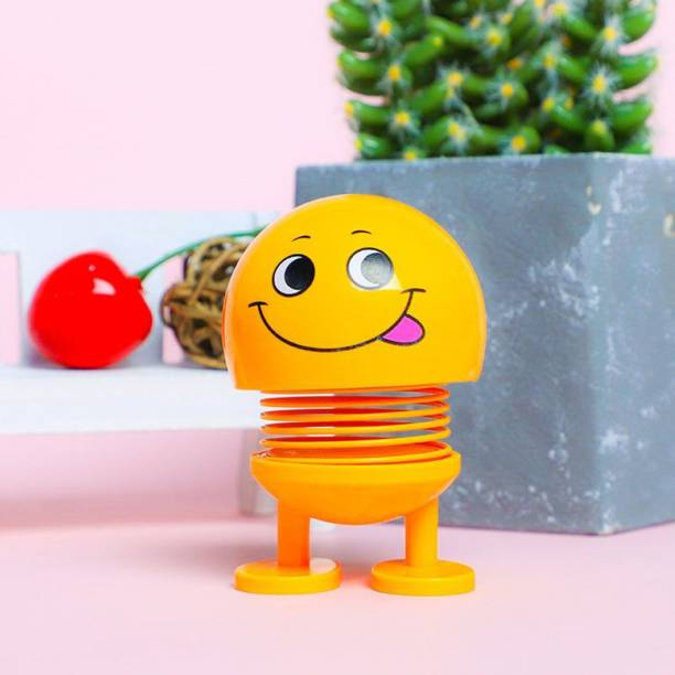 india fun zone (pack of one)Emoji for car Dashboard, Funny Smiley face Head Doll Gift Toys for Kids, Dancing car Ornaments Emoticon Figure Bobble Heads with Spring ,,Emoji/Smiley Spring Doll,Cute Emoji for Car Dashboard Bounce Toys,Emoticon Figure Funny Smiley Face Springs Car Decoration for Car Interior Dashboard Expression BobbleHead