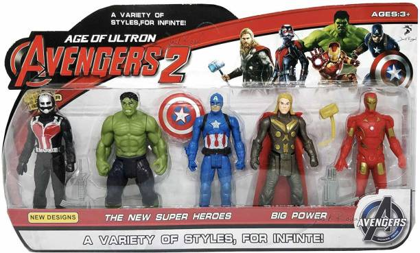 Johnnie Boy figure set of 5 age of ultron with led function and movable parts