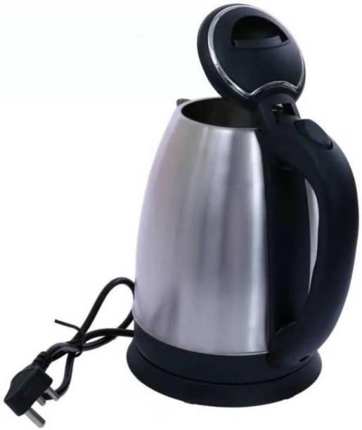 hdayenterprise ™SC-1838 Hot Water Pot Portable Boiler Tea Coffee Warmer Heater Cordless MG-STR Electric Kettle(1.8, Silver) Electric Kettle