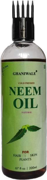 ghaniwale Cold Press Neem Oil For HAIR, SKIN, Plants Hair Oil