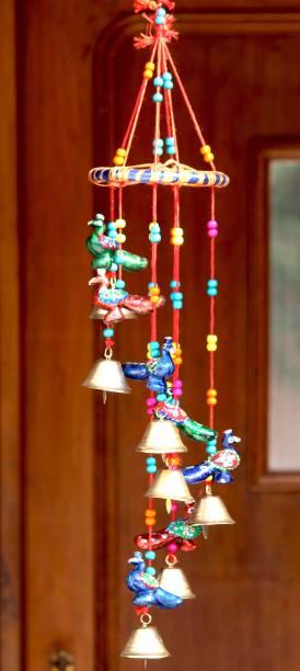 Craft Junction Handcrafted Rajasthani Round Bird Design Wall Hanging Decorative Showpiece  -  50 cm