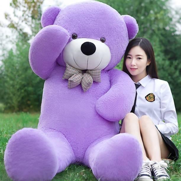 Ziraat Adorable Teddy Bear Purple Color Medium Size 3 Feet For Your Loved One  - 91.1 cm
