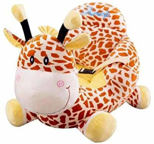 AVS Giraffe Shape Soft Plush Cushion Baby Sofa Seat or Rocking Chair for Kids - 45 cm Multicolor Fabric Sofa
