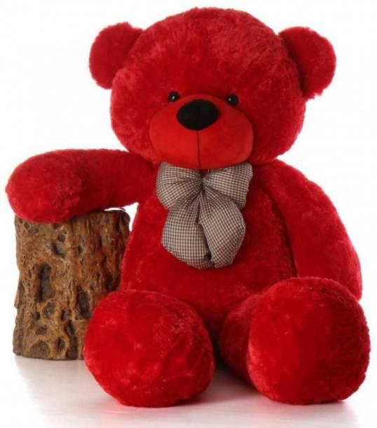 fluffies 4 Feet Red Very Cute and Soft Jumbo Teddy Bear-122cm  - 122 cm