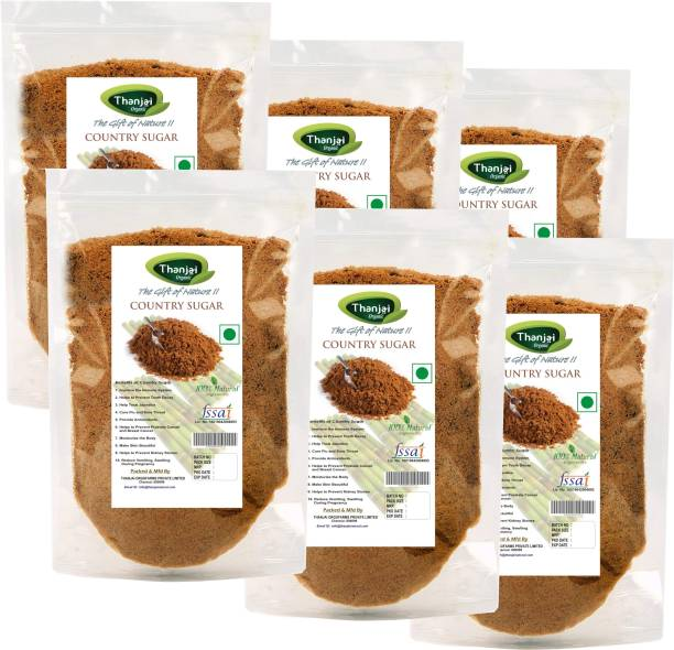 Thanjai Organic Natural Country Sugar/ Naattu Sakkarai 6 Kg Sugar