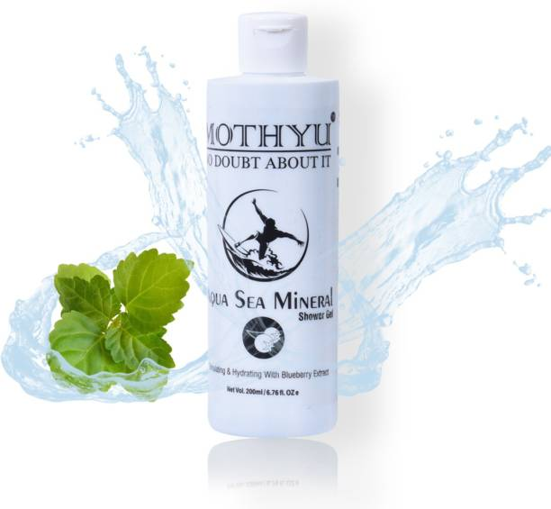 MOTHYU Aqua Sea Mineral Shower Gel With Blueberry - For Face & Body Wash