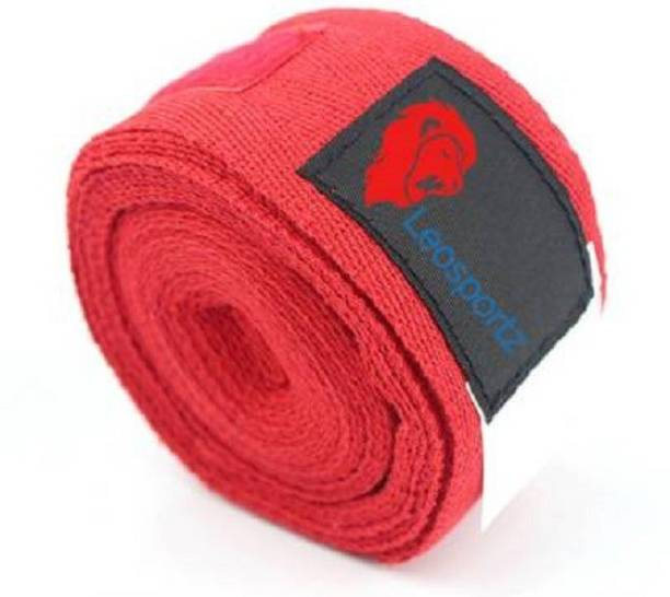 Leosportz Branded & flexible Boxing & Gym Fitness Tape Red Boxing Hand Wrap