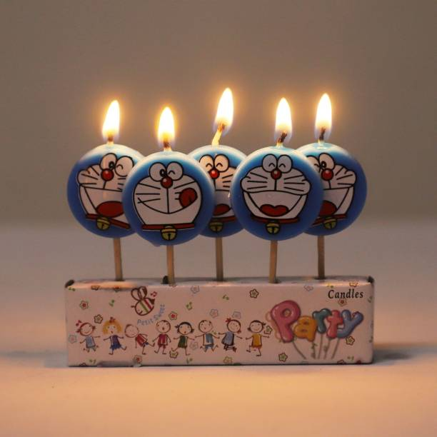 FUNCART Round Doraemon tooth pick Candle