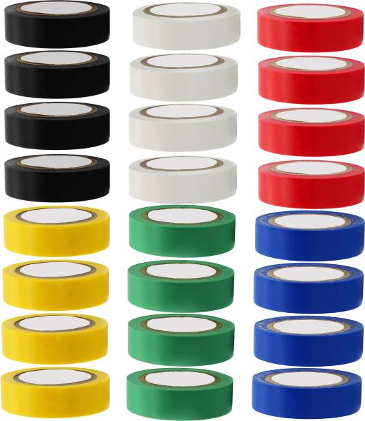 Hillgrove PVC Tape (Pack of 24) Self Adhesive Electrical Insulation Tape
