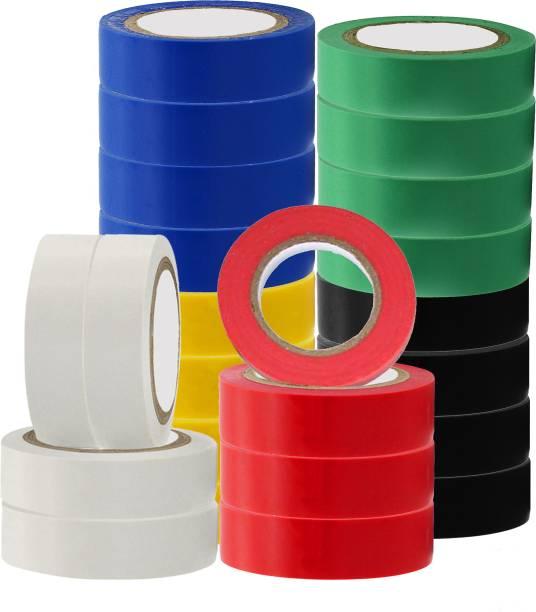Hillgrove PVC Tape 24 Pcs Premium Quality Self Adhesive PVC Electrical Insulation Tape (Pack of 24)
