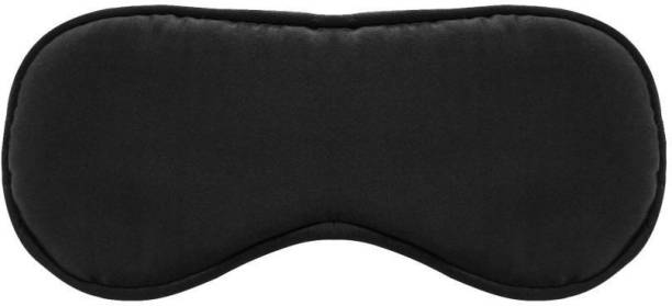 Uniqon (Set Of 1) Men & Women Smooth,Soft & Comfort Silk Travel Light Blocking Eye Mask/Blind Fold Meditation Rest Sleeping Shield Eyepatch Foam Padded Shade Cover With Adjustable Strap Eye Shade