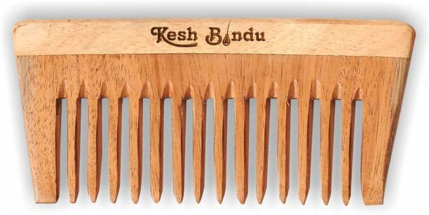kesh Bindu Neem Wood Combs 100% Handmade, Anti- Dandruff