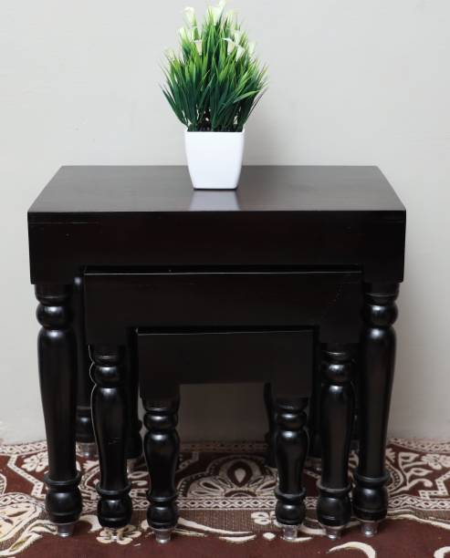 WoodWorld Solid Wood Nesting Table