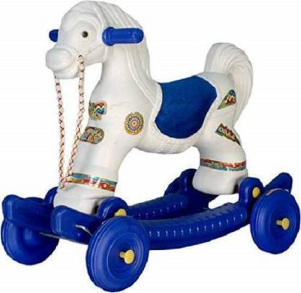 KENZAI 2 in 1 Baby Horse Rider for Kids Cart Non Battery Operated Ride On