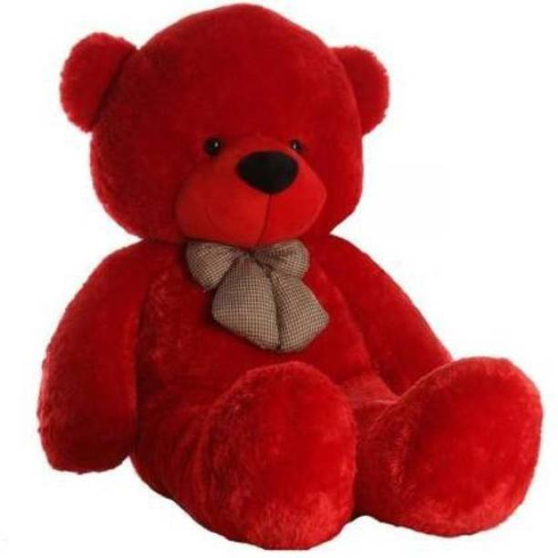 Miss & Chief 3 feet red cute and soft sweet soft teddy bear and anniversary gift  - 90 cm