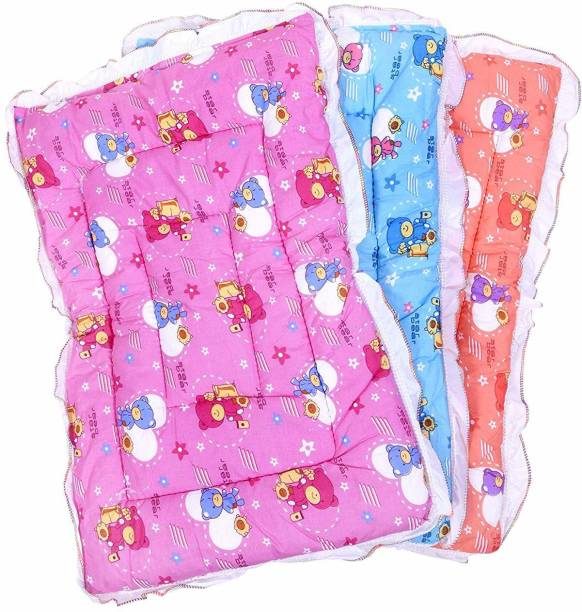 Fareto New Born Baby Combo OF 3 Nappy Changing Godari Lacy Bed, Mattress (0-6 Months)
