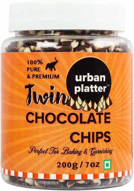 urban platter Dark & White Twin Choco Chips Solid
