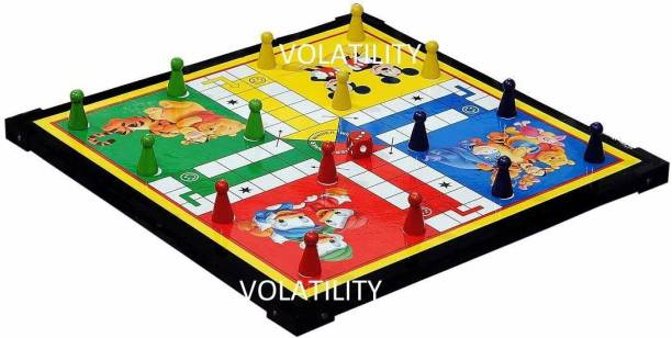 VOLATILITY Wooden Board 12-12 Ludo Snakes & Ladders Strategy & War Games Board Game