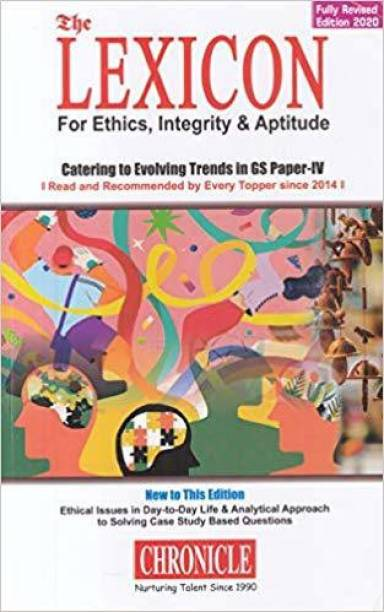 Lexicon for Ethics, Integrity & Aptitude for IAS General Studies - 6th Paper - 2020 edition