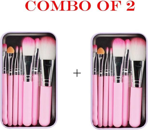 BELLA HARARO Makeupbrush set of 7 with Pink box -(pack of 2)
