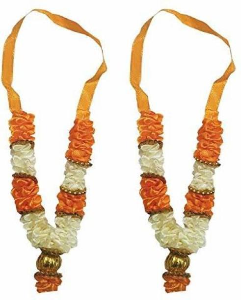 salvusappsolutions Artificial Flowers Beautiful Garland Pooja Haar Mala for Idol-Mala for God, Pooja Mala fabric, cotton Garland