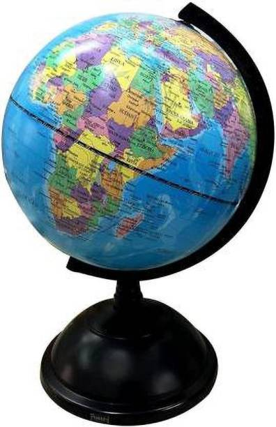 DMTE Table Top Political World Globe ||with Time Scale || Scratch Proof Surface || Table Top political World Globe