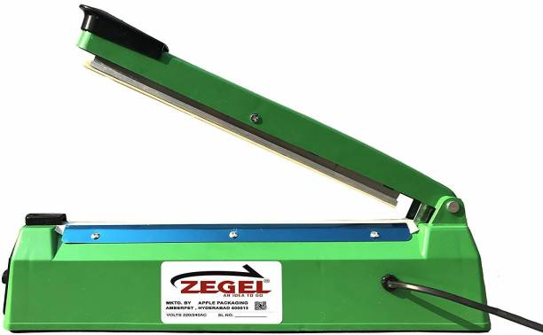 Zegel 12 Inches Seal Machine For Plastic Bag Sealing Packing Heat Sealer Packet Manual Package Packaging Heating Pouch Bags Poly Impulse Polythene Polybag Table Top Heat Sealer Table Top Heat Sealer