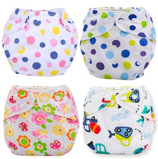 Babymoon (SET of 4) Diaper Covers Premium Reusable Washable Waterproof Adjustable Pocket Cloth Diaper
