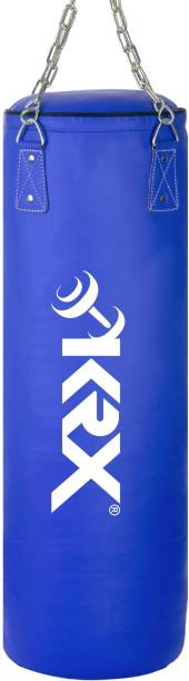 KRX Ultimate 3 Feet Unfilled Heavy Blue Punching Bag PU Leather with Chain Hanging Bag
