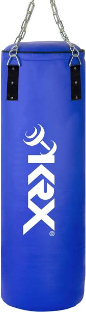 KRX Phantom 3 Feet Unfilled Blue Punching Bag SRF Material with Chain Hanging Bag