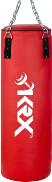 KRX Phantom 3 Feet Unfilled Red Punching Bag SRF Material with Chain Hanging Bag