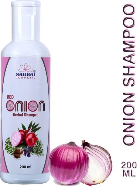 nagbai Red Onion Shampoo for Hair Growth with Hair fall control shampoo
