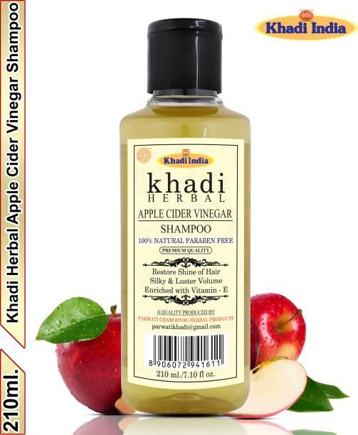 Khadi Herbal Apple Cider Vinegar Shampoo/Hair Cleanser For Silky Bouncy Hair (Pack Of-1)