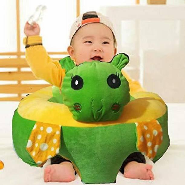 Vaishno Turtle Shape Soft Plush Cushion Baby Sofa Seat or Rocking Chair for Kids - 45 cm Green Fabric Sofa