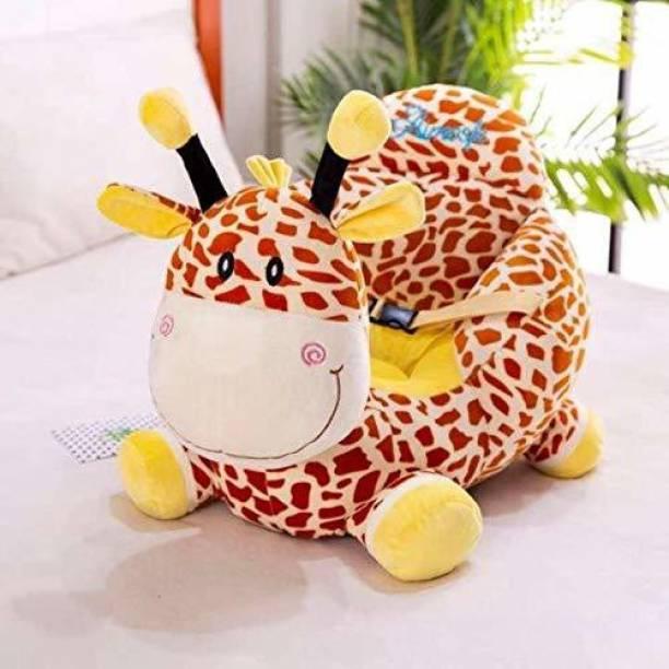 Vaishno Giraffe Shape Soft Plush Cushion Baby Sofa Seat or Rocking Chair for Kids - 45 cm Multicolor Fabric Sofa
