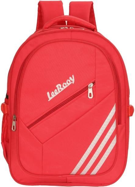 LeeRooy MN-Canvas 30 Ltr Black School Bag Backpack For Unisex Waterproof School Bag